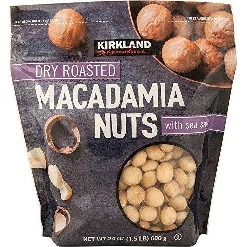 Dry Macadamia Nuts (Kirkland Dry Roasted Macadamia Nuts with Sea Salt 680g (1.5 LB))