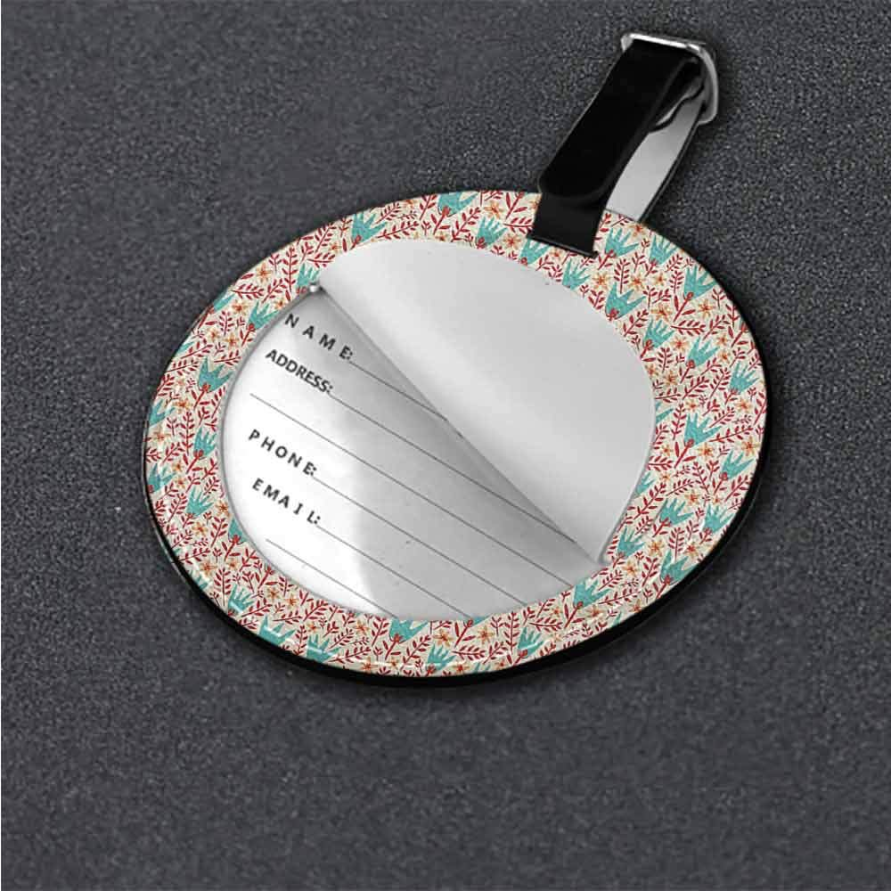 Tags Portable Label Colorful,Stylized Funky Circles Holder Travel Accessories