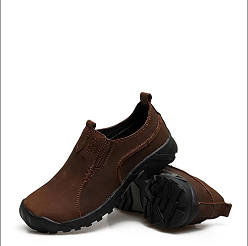 Anuncios de hombre Fashion Casual Weave cuero Barco Zapatos Loafers, color amarillo, talla 39.5 EU