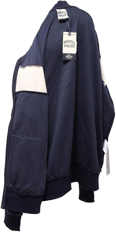 Russell Athletic 1000K Felpa Uomo ciniglia Blue Chenille weatshirt Man