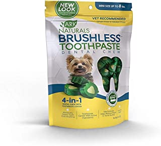 product image for Ark Naturals Brushless Toothpaste, Dog Dental Chews for Mini Breeds, Vet Recommended for Plaque, Bacteria & Tartar Control, 1 Pack