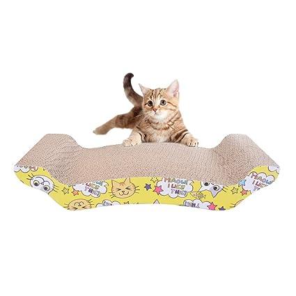 Roblue - Rascador para Gatos y Gatos con Placa para Gatos pequeños de Papel Ondulado Duradero para sofá o cojín de Gato