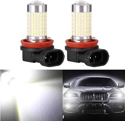 Mesllin Bombillas LED antiniebla con lente proyector 144SMD H8 H11 ...