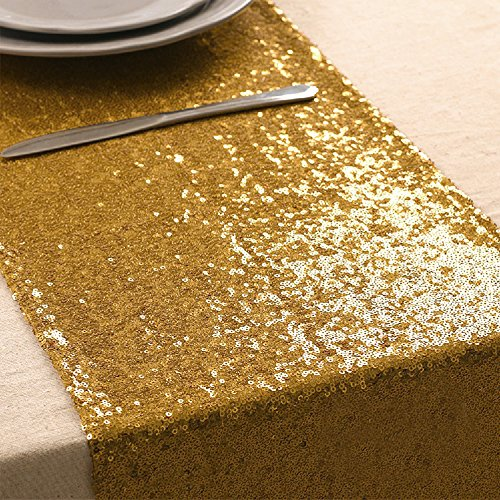 (108 inches/118 inches Sequin Gold Silver Wedding Table Runners Red Sparkly Table Runner Shinny Glitter for Banquet Party 3 Size/5 Colors Pack of 1 5 10, 12