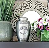 Tree of Life Silver Pewter Cremation Urn for