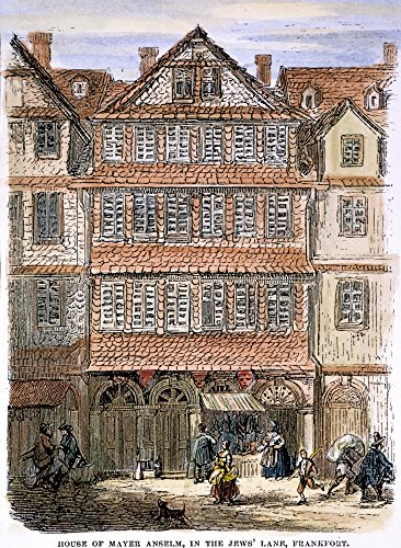 Rothschild HouseNthe Ancestral House Of The Rothschild (Red Shield) Family In The One-Lane Jewish Ghetto At Frankfurt Am Main Germany Wood Engraving 1874 Poster Print by (24 x - 1874 Shield