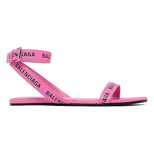 competitive price aa69b d7666 Balenciaga Sandali Donna 551154WA7615605 Pelle Rosa: Amazon ...
