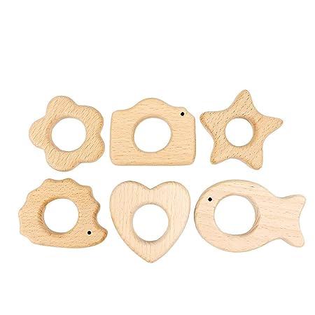 MagiDeal Hölzerne Zähne Baby Zahnen Spielzeug Umweltfreundliche Holz