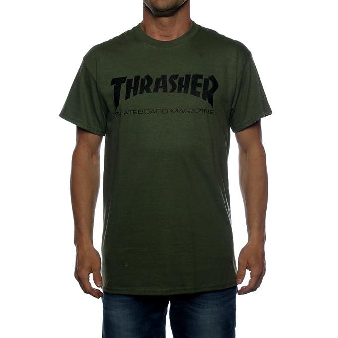 finest selection a63fc e9012 THRASHER - T-Shirt - Uomo Verde Medium: Amazon.it: Abbigliamento