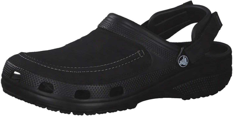 NEW Crocs Mens Clogs Mules Shoes Classic Black Rubber Slip-On Strap Size 11 M