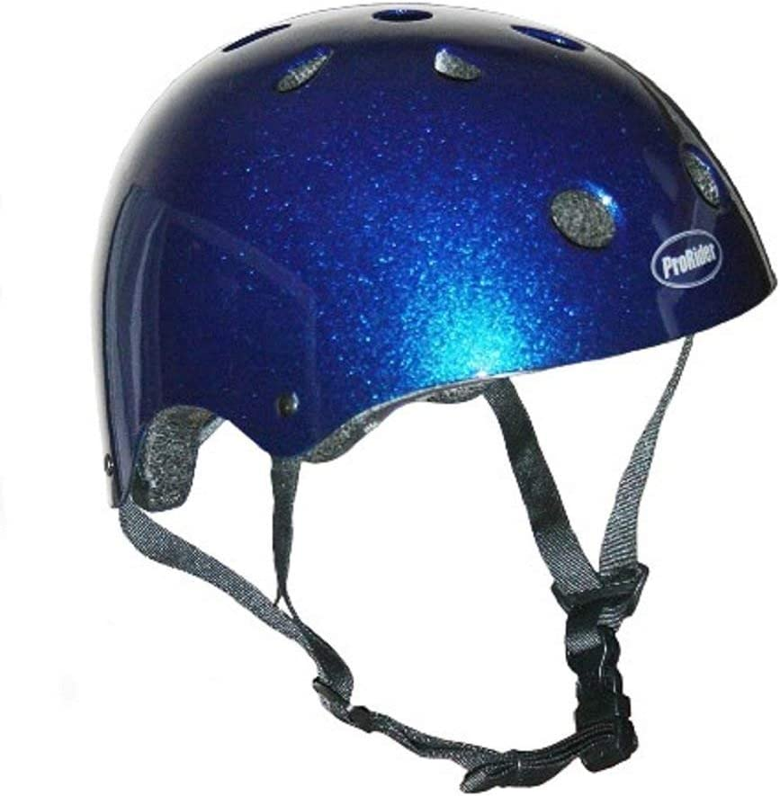Pro-Rider Classic Bike & Skate Helmet (Blue, Small/Medium)