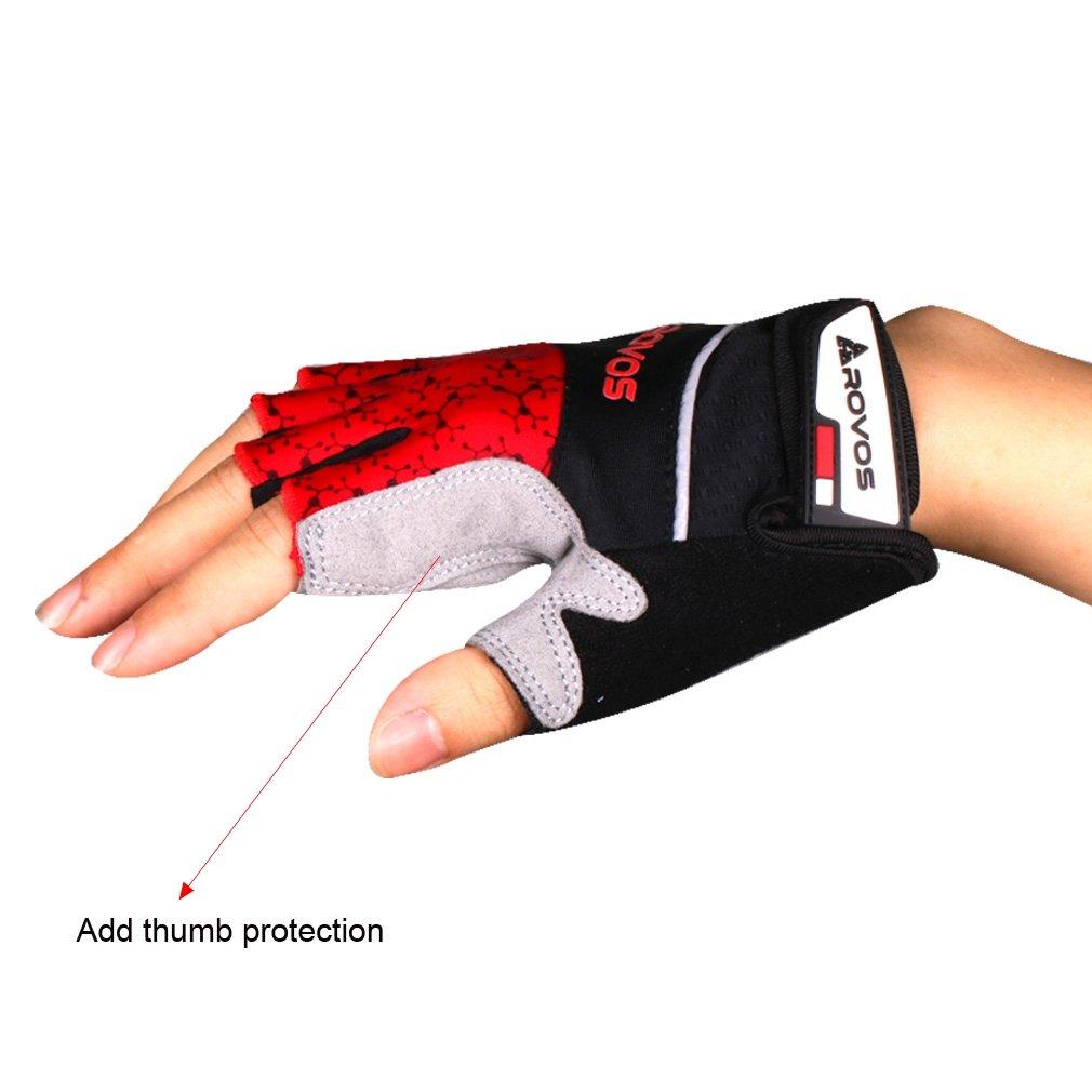 ROVOS Mountain Bikes Gloves Men Half Finger 3D Gel Bikes Gloves Breathable Cycling Gloves Aegis