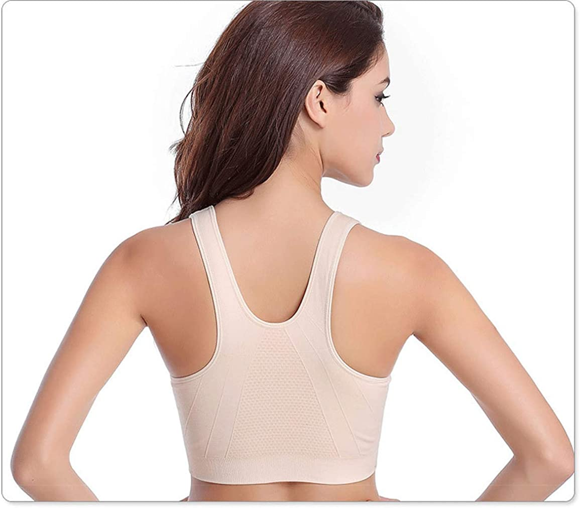 Women's Zip Front Sports Bra Wireless Post-Surgery Bra Active Yoga Sports Bras at  Women's Clothing store