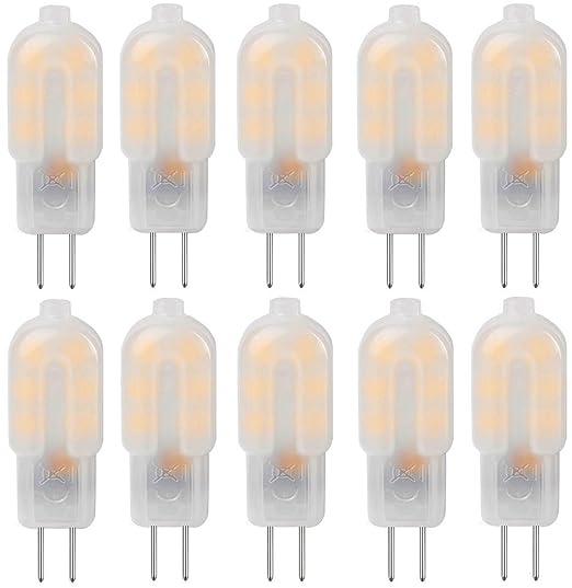 KINDEEP Bombillas LED G4 12V - 1.5W / 120LM, equivalente a 20W, Blanco cš¢lido 3000K, no regulable, Pack de 10: Amazon.es: Iluminación