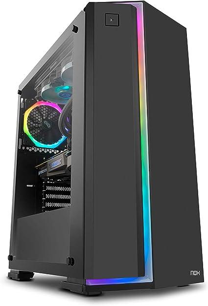 Nox Infinity Neon - NXINFTYNEON - Caja PC, RGB, Color Negro: Nox ...
