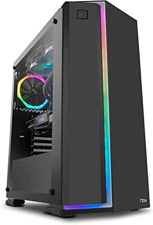 Nox Infinity Neon - NXINFTYNEON - Caja PC, RGB, Color Negro: Nox: Amazon.es: Informática