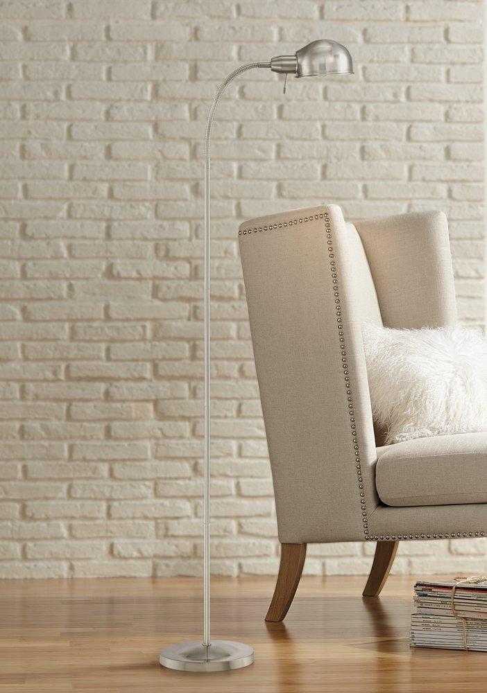 floor and wall product ridley satin nickel gooseneck floor lamp amazoncom