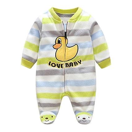 201849c8c Recién nacido mameluco invierno Ropa de una pieza espesar Traje bebé mono  de Niños Niñas Bodysuit