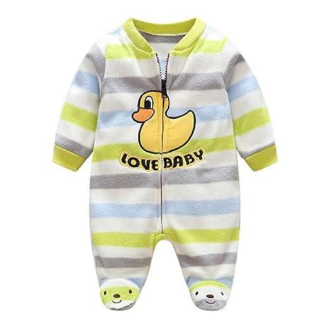 bf9700387 Recién nacido mameluco invierno Ropa de una pieza espesar Traje bebé mono  de Niños Niñas Bodysuit