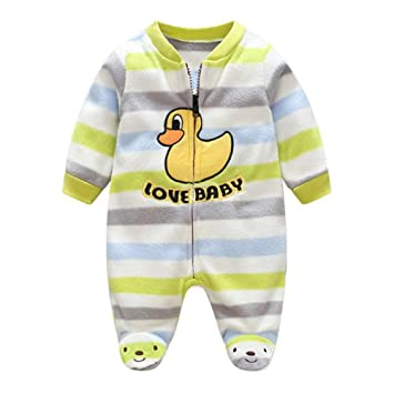 3d702832eafd Neroborn Baby Pajamas Footed Fleece Romper Coverall Zip Front ...