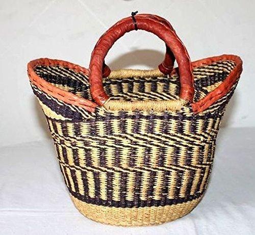 Afrika Art Decoration–Demi mittel Tasche aus Stroh geflochten Tendence 7322-l2C-2403