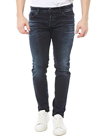 58b08490 Diesel Sleenker 0679Q Dark Washed Stretch Denim Jeans: Diesel ...