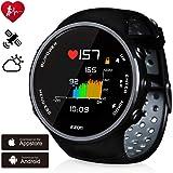 ランニングウォッチ GPS 心拍計  デジタル ウォッチ 防水 Bluetooth搭載 歩数計活動量計 睡眠検測 着信通知 専用日本語アプリ対応 EZONT958B01 …