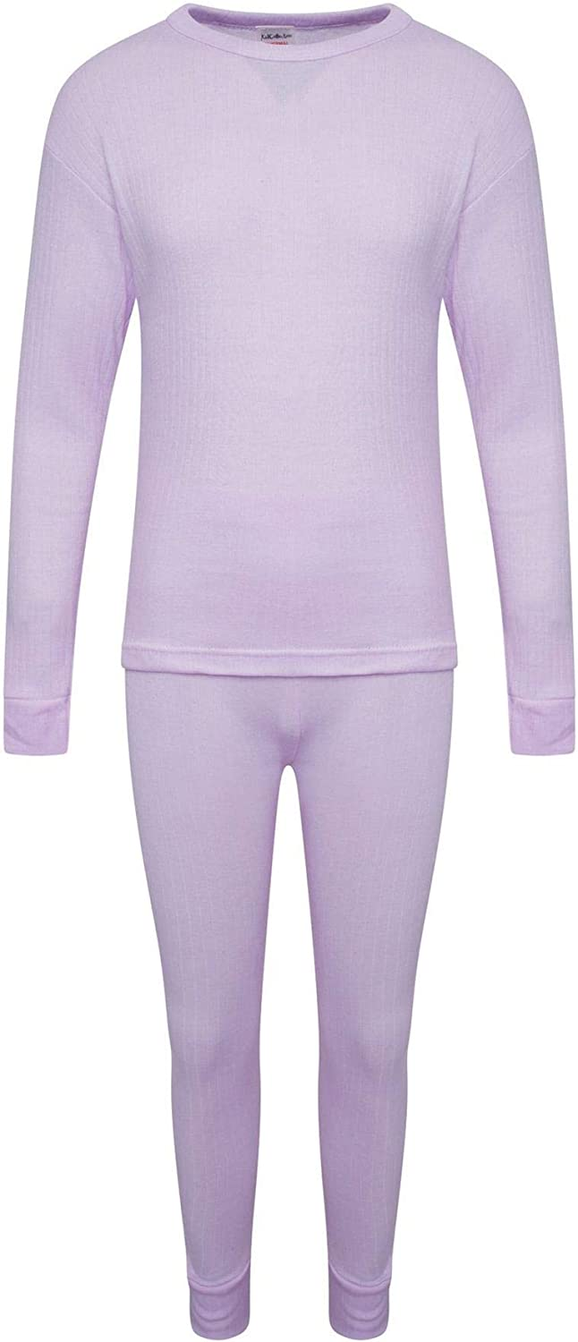 Unisex for Boys /& Girls Ages 2 to 13 Years KidCollection Childrens Thermal Underwear Set Long Sleeve Top /& Matching Bottoms Winter Warm Baselayer Set