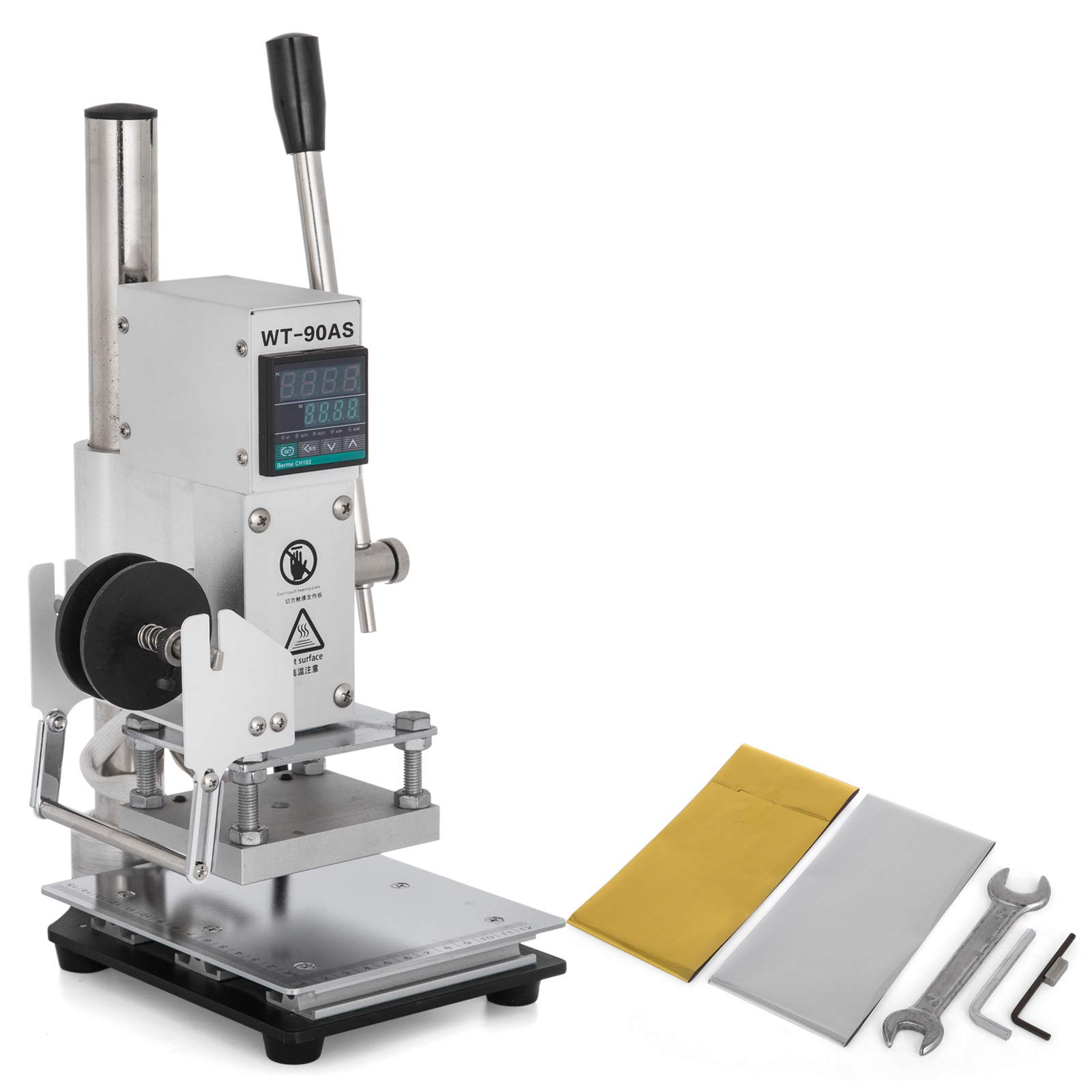 VEVOR Bronzing Machine 8x10cm Hot Foil Stamping Machine 110V with Bracket and Digital Display Stamping Machine for Leather PVC PU Wood