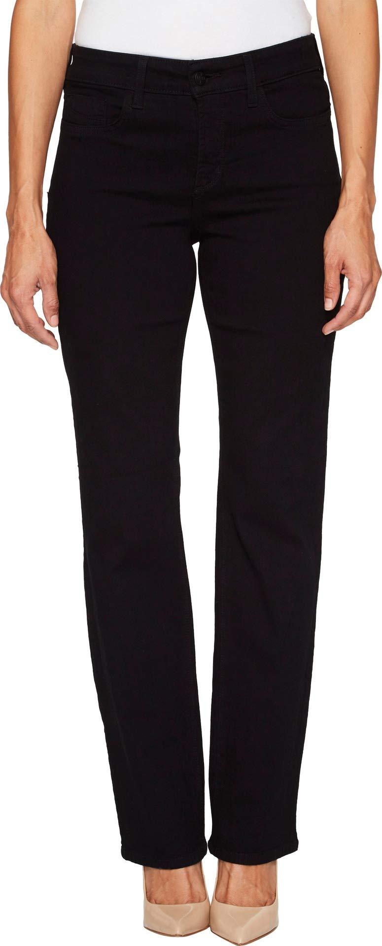 NYDJ Women's Petite Marilyn Straight Jeans, Black, 0P