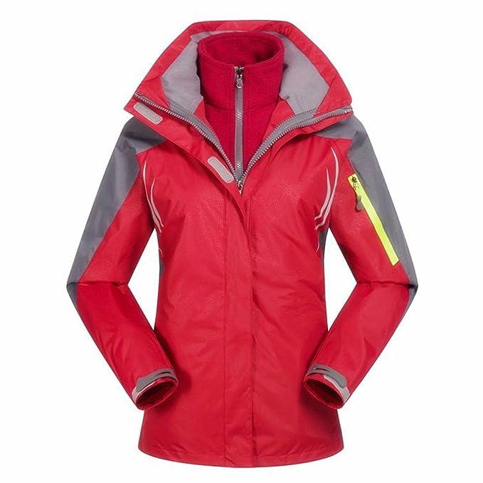 TOOGOO (R) mujeres Snowboard Chaqueta Cortavientos para 2 capas senderismo ropa impermeable traje de esquí deporte Coat Ropa Chaquetas Rojo/S: Amazon.es: ...