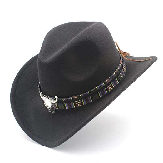 Amazon.com  Fashion Womens Western Casual Cowboy Hat Lady Jazz Cowgirl  Sombrero Caps a5485b5e292d