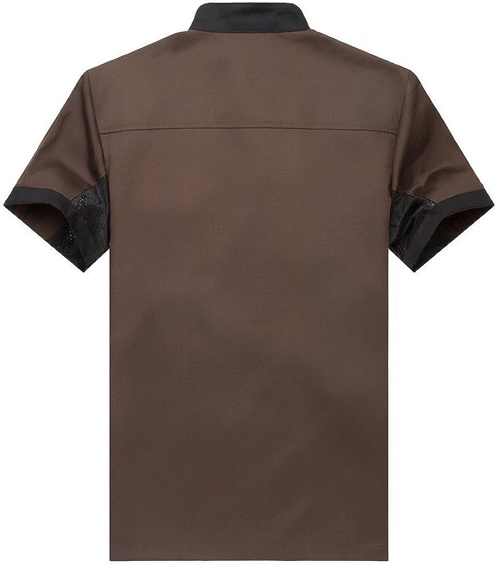 WAIWAIZUI Chef Jackets Waiter Coat Short Sleeves Underarm Mesh Many Colors