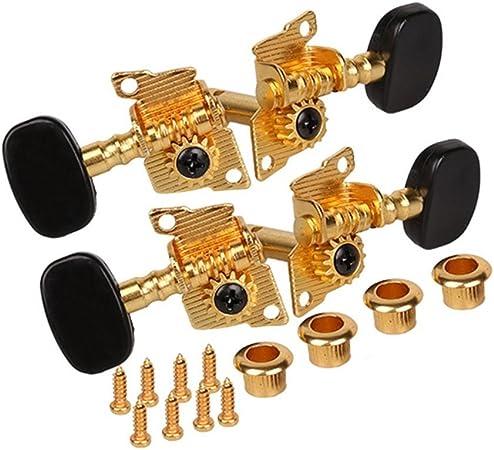 4x Goldene Ukulele Hawaii Gitarre Ersatz Stimmwirbel Mechaniken 2L2R