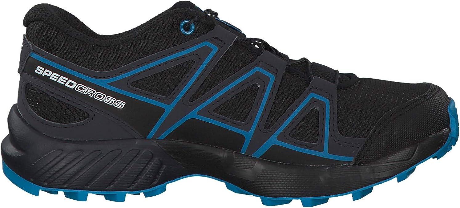 13 Child US Salomon Kids Speedcross J Trail Running Shoes Black//Graphite//Hawaiian Surf