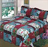 Fancy Collection Bedspread Bed Cover White Blue