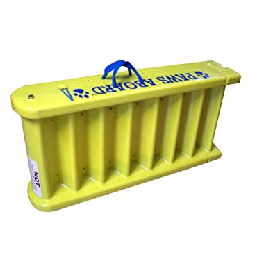Paws Aboard Safe and Convinient/Portal, Durable and Slip-Resistant Doggy Boat Ladder - Yellow