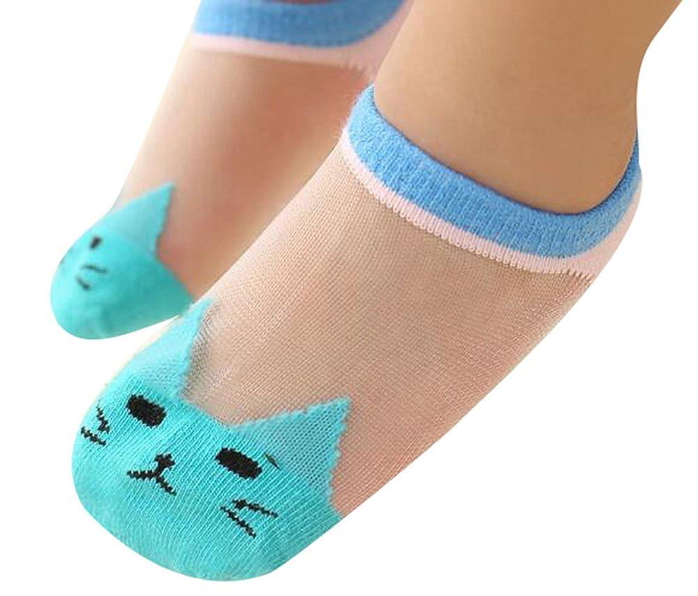 Sept.Filles Socks Baby Girls Silk Socks Ultra-thin Liner Socks Packs of 5