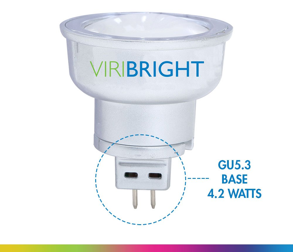 Warm White 2700K Viribright MR16 LED Light Bulbs with GU5.3 Base 35W Equivalent Halogen Replacement 4W Spotlight with 312 Lumen 12 Pack