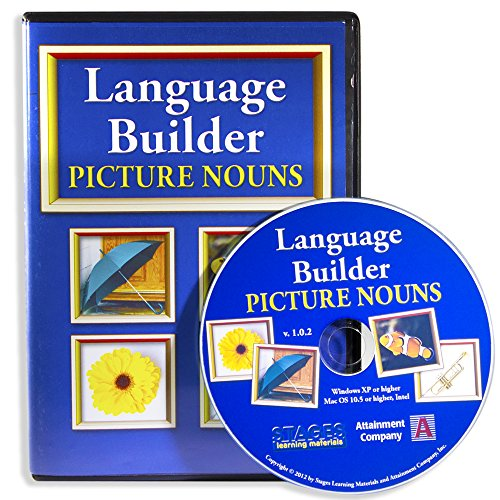 Language Builder Picture Noun Autism Software for ABA Therapy and Speech (Picture Noun Cards)