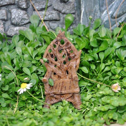 Miniature Fairy Garden Tiny Woodland Throne