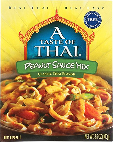 - A Tast of Thai Peanut Sauce Mix, 3.5 Oz Pack -- 6 Per Case.