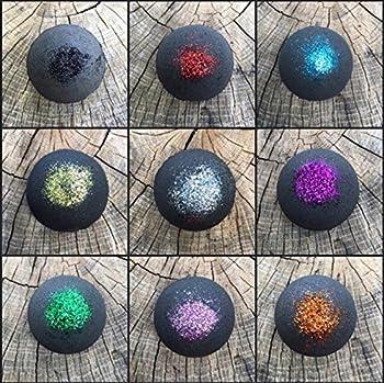 Black Glitter Bath Bomb
