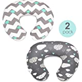 Stretchy Nursing Pillow Covers-2 Pack Nursing Pillow Slipcovers for Breastfeeding Moms,Ultra Soft Snug Fits On Infant…