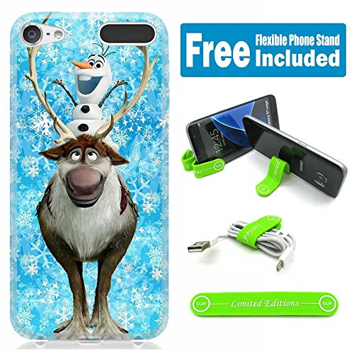 Apple iPod Touch 5th/6th Generation Case Cover Skin with Flexible Stand - Frozen Olaf Sven (Ipod 5th Generations Frozen Cases)
