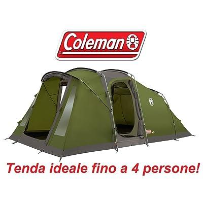Tente de camping familiale à 4places modèle Vespucci marque Coleman avec tissu à feu retardé et sac pour le transport