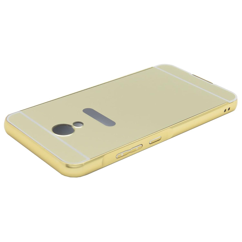 Funda Espejo Aluminio Metal Carcasa para Meizu M5S Color Oro ...