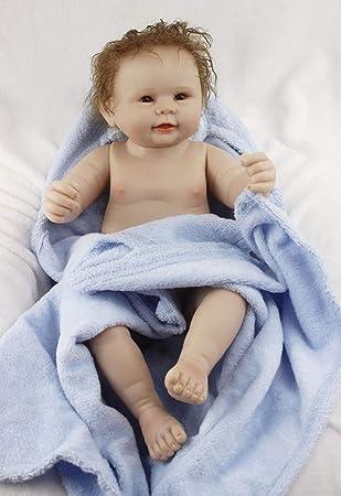 ZELY 55 cm Reborn Muñeca Bebé Cuerpo Entero Silicona Real Ojos Abiertos Baby Doll Boys Magnético Juguetes 22 Inch