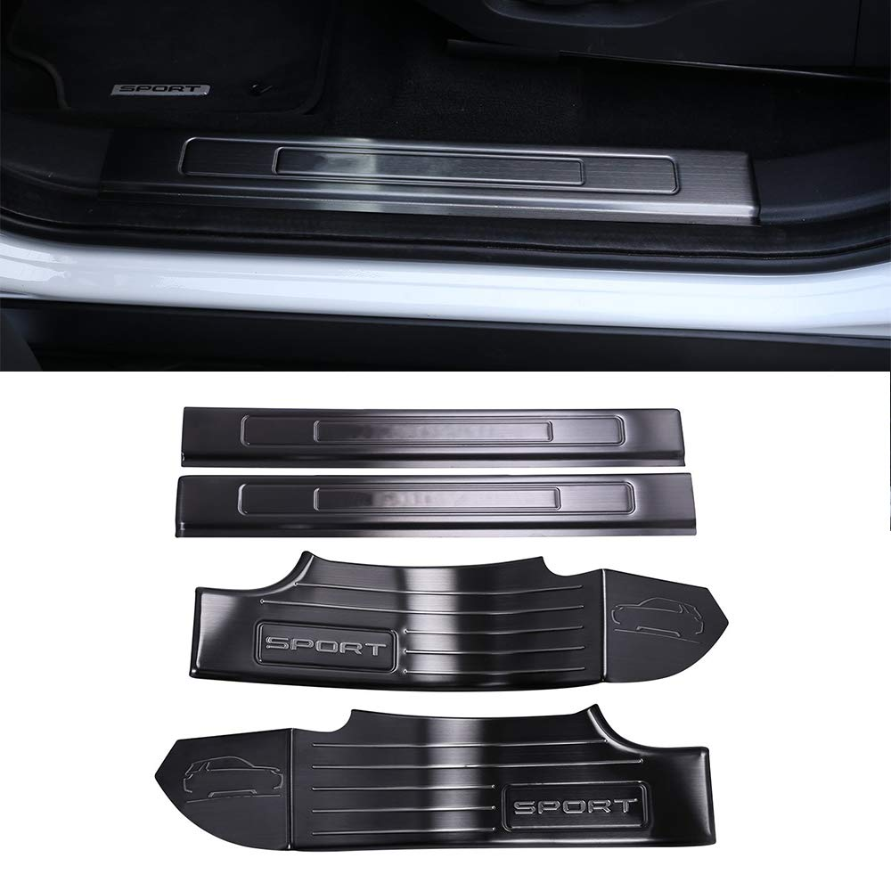 YIWANG ABS 4Pcs Seat Adjustment Button Trim Cover Accessories for Land Rover Range Rover Velar 2016-2019,for Land Rover Range Rover Sport 2016-2019