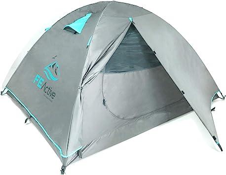 FE Active Tienda de Campaña 4 Personas – Tienda de Camping 4 Estaciones de Alta Cualidad para